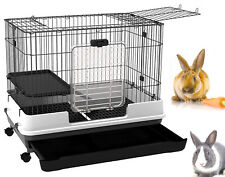 Large 32�L 2-Level Indoor Small Animal Rabbit Bunny Hutch Cage Cat Ferret Home