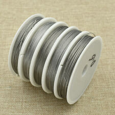 Multi Size Nylon Coated Economic Beading Wire Stainless Steel Silver Craft Tool