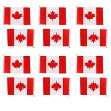 12Pcs Canada Hand Waving National Flag Canadian Maple Leaf Flags with Poles