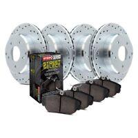 FRONT KIT 2 Platinum Hart *DRILLED /& SLOTTED* Front Disc Brake Rotors 2290
