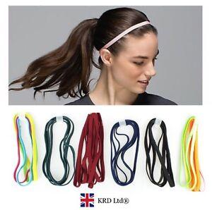 2x Snag Free Elastic Head Bands Hairbands Ladies Girls School Sports Gym Hair UK