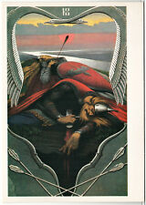 "Vasilyev ""The Birth of the Danube"" Russian Bogatyr Soviet Oversized postcard"