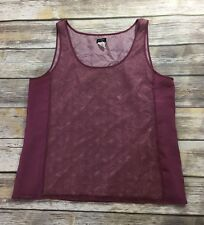 J. Crew Womens 12 Tank Top Blouse Lace Love Dressy