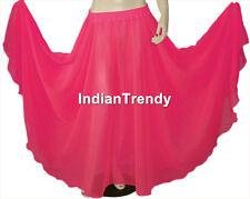 Dark Teal Chiffon Skirt Belly Dance Boho Ethnic Dress 9 Yard Flamenco Jupe Maxi