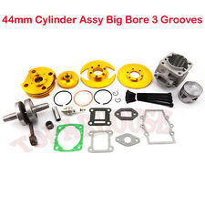 Gold 44mm Big Bore Kit Cylinder Piston 47cc 49cc Mini Moto ATV Dirt Pocket Bike
