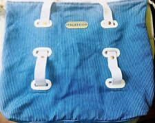 TIGERLILY: New Slouchy Blue Striped CottonTwill Adjustable Beach Bag