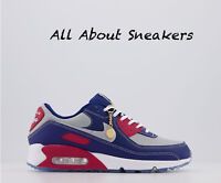 "Nike Air Max 90 ""Deep Blue Light Smoke Grey Gr"" Trainers Limited Stock All Sizes"