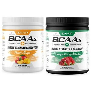 BCAA Powder Amino Energy Nitric Oxide Booster, Pre Workout, Recovery 30 Servings