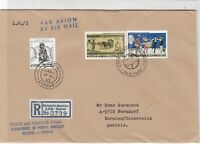 Cyprus 1983 Country Cancel Regd Airmail Commonwealth Day Stamps Cover Ref 30529