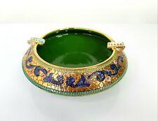 Gialletti Deruta Byzantine Mosaic Italian Majolica Ceramic Pottery Dish Signed