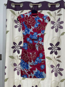 Karen Millen - Fitted dress - multicoloured - Size 8 (small) good condition