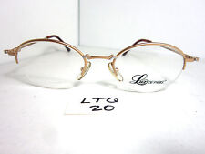 Vtg 90s Lux De Paris Half Rimless Eyeglass Frame Julie Satin 03 Round (Ltq-20)
