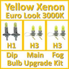 Warm White 3000K Yellow Xenon Headlight Bulb Set Main Dip Fog H1 H3 H3 Kit