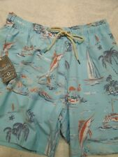 Faherty Beacon Swim Trunk Daydream Isle Pattern NWT XL $128