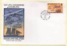 Sobre Primer Día Falkland Islands. XIX UPU Congress Hamburg. 25-06-1984