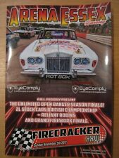 Arena Essex Firecracker 2017 26 XXVI Banger Racing Programme Unlimited Bangers