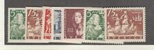 Sweden, Postage Stamp, #268-274 Set Mint Nh, 1938 Ship, Minnet