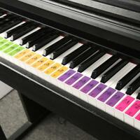 Removable 88 Key Electronic Keyboard Piano Key Note Stickers Labels for Beginner