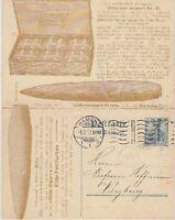 DR 5 Pf. Germania tolle Privat Doppel Ganzsache Kitty Zigarre Hameln 1912, GA