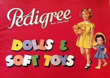 Vintage Large A4 Pedigree HP doll catalogue 1955/6 30 pages