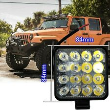 16 LED Square White 6000K 12V Truck Bumper Flood Work Lights IN NIS