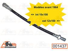 FLEXIBLE de freins AV 10x100-12x100 de Citroen 2CV ancienne jusqu'a 1964  -1437-