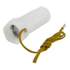 White Plastic Shell Magnetic Water Flow Switch w Inner Outer Thread I7M7