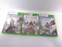 3 Game Assassins Creed Bundle XBOX 360 III IV Brotherhood Tested & Working