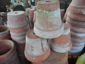 """6"""" x 5"""" SANKEY BULWELL, HAND MADE, Vintage Clay Terracotta pots, price is for 3"""