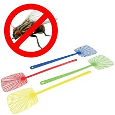 More details for 4x extra long handled fly swatters squasher smacker catcher handheld insect pest