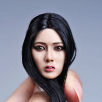 YMTOYS 1/6 Asia Girl Head Sculpt Model Black Long Hair F12'' Female Figure Body