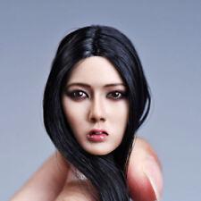 YMTOYS 1/6 Asia Girl Head Sculpt Model Black Long Hair F12'' Female Figure Body