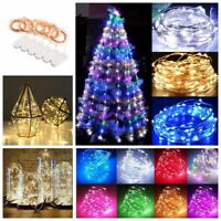 6Pcs 20LED Battery Micro Rice Wire Copper Fairy String Lights Party Festival 2M