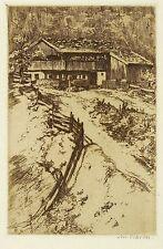 ARTHUR JULIUS BARTH - Bauernhaus - Radierung 1910