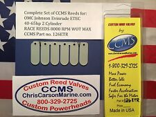 CCMS OMC,Johnson,Evinrude ETEC, G2, Race Outboard Reeds 40-60hp 2 Cyl. PN126ETR