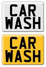 11 X 8  CAR WASH SIGN WHITE OR YELLOW