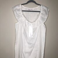 Vintage 1991 White Nightgown New With Tags Small Adolfo Classics