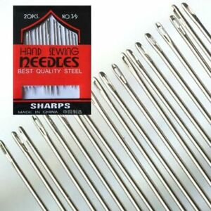 ASSORTED HAND SEWING NEEDLES - EMBROIDERY MENDING CRAFT QUILT CASE SEW UK