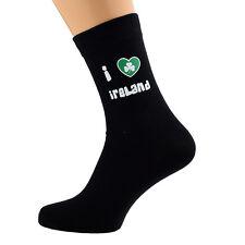 I Love Ireland Shamrock Design Mens Black Socks UK Size 5-12 X6N070