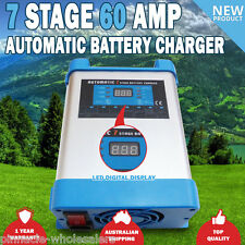 NEW 7 Stage 60 amp 12V Fully Automatic Caravan Battery Charger Suits 40 to 600Ah