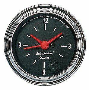 "Auto Meter 2585 2-1/16"" Traditional Chrome Clock Gauge 12 Hour NEW"
