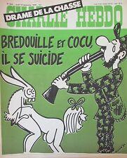 CHARLIE HEBDO No 409 SEPTEMBRE 1978 WOLINSKI DRAME DE LA CHASSE SUICIDE COCU