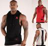 Kai Greene Mens Sports Hoodie Vest Muscle Fit Tank Top Gym Sleeveless T-Shirt Uk