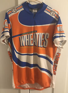 Pearl Izumi short sleeve Wheaties print cycling jersey with 3 pockets men's XXL