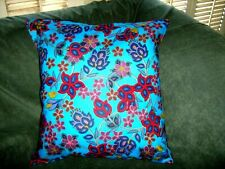 FLORAL BEADED  PILLOW COVER