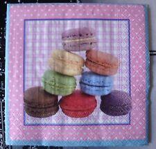 """Lot 3 serviettes en papier """"Pyramide de macarons"""" (Paper Napkins)"""