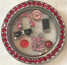 ❤️AUTHENTIC ORIGAMI OWL~ 4 CHARM SET ~ SWEET 15 ~ CELL & HEADPHONES  3 Retired❤️