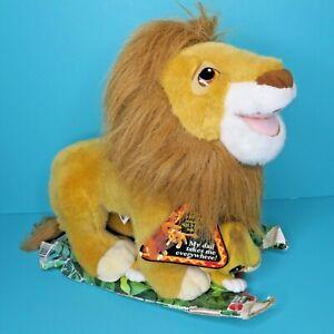 "Disney Mattel Lion King 15"" Mufasa Dad & Baby Son Cub Simba Plush Vintage 1993"