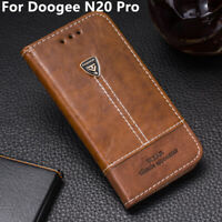 Luxury Flip Wallet Leather Stand Holder CARD Case Cover For Doogee N20 Pro 6.3''