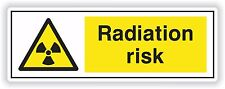 1x rischio di radiazioni Adesivo rischi di esposizione di Sicurezza per Porta Paraurti CAMION NEGOZIO #01